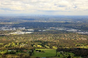 The Wicklow ridgeline, from Bayswater to North Croydon, the pinnacle at Birt's Hill on Maroondah Highway